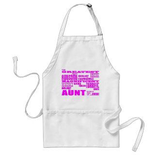 Regalos de la diversión para las tías La tía más Delantal