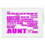 Regalos de la diversión para las tías: La tía más  Felicitaciones