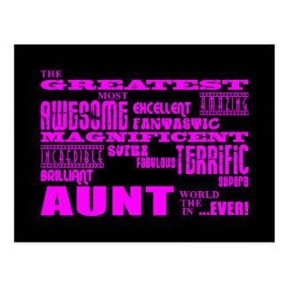 Regalos de la diversión para las tías: La tía más Tarjetas Postales