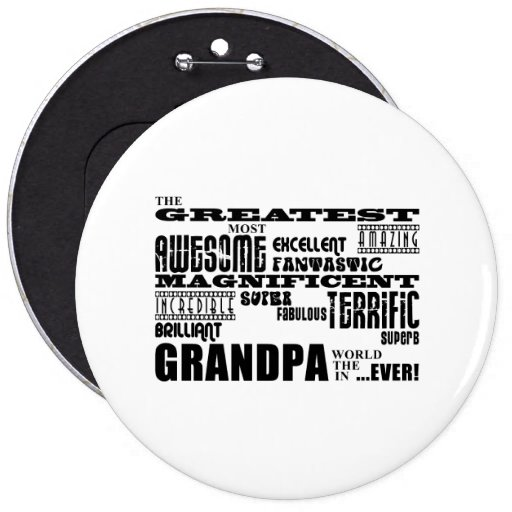 Regalos de la diversión para los abuelos: El abuel Pin Redondo 15 Cm