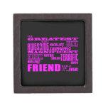 Regalos de la diversión para los amigos: El amigo  Cajas De Recuerdo De Calidad