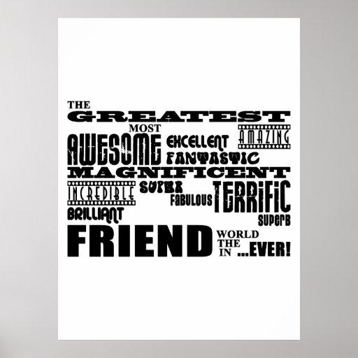 Regalos de la diversión para los amigos: El amigo  Impresiones
