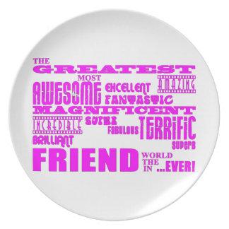 Regalos de la diversión para los amigos: El amigo  Platos Para Fiestas