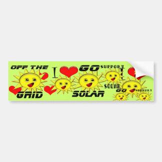 Regalos de la energía solar y camiseta promocional pegatina para auto