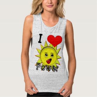 Regalos de la energía solar y camiseta promocional playera de tirantes anchos