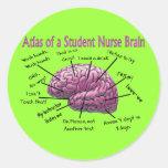 Regalos de la enfermera de estudiante pegatinas redondas