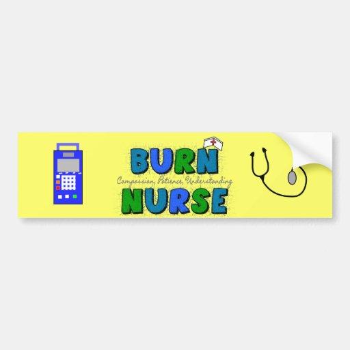 Regalos de la enfermera de la quemadura--Diseño ar Pegatina Para Auto