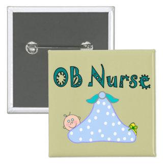 Regalos de la enfermera de OB, bebé en manta--Ador Pin Cuadrado