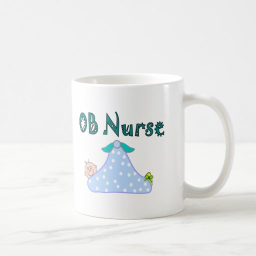 Regalos de la enfermera de OB, bebé en manta--Ador Tazas De Café