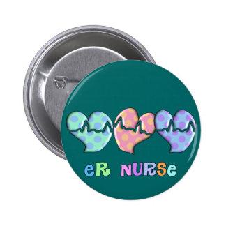 Regalos de la enfermera del ER Pin Redondo De 2 Pulgadas
