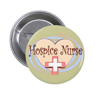 Regalos de la enfermera del hospicio pin redondo de 2 pulgadas