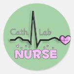 Regalos de la enfermera del laboratorio de la etiquetas redondas