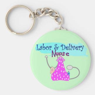 Regalos de la enfermera del parto llavero personalizado