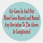Regalos de la enfermera/del terapeuta respiratorio pegatinas redondas