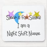 Regalos de la enfermera del turno de noche tapete de raton