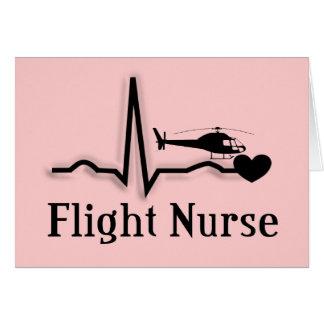 Regalos de la enfermera del vuelo tarjeton