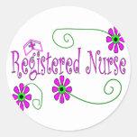 Regalos de la enfermera registradoa-- etiqueta redonda