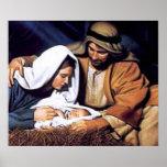 Regalos de la escena de la natividad para el navid impresiones