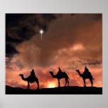 Regalos de la escena de la natividad para el navid poster
