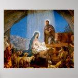 Regalos de la escena de la natividad para el navid posters