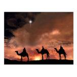 Regalos de la escena de la natividad para el navid postal