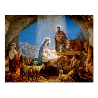 Regalos de la escena de la natividad para el postales
