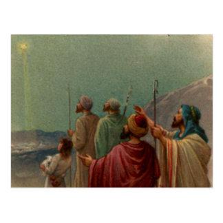 Regalos de la escena de la natividad para el tarjeta postal