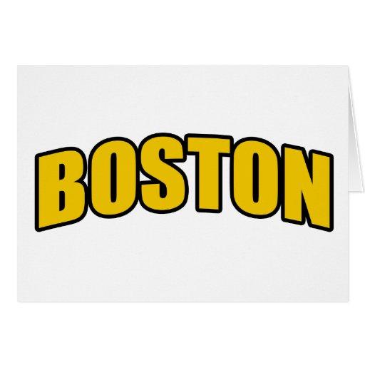 Regalos de la fan de hockey de Boston Felicitación