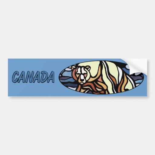 Regalos de la fauna de Canadá de la pegatina para  Pegatina De Parachoque