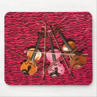 Regalos de la foto del violín alfombrillas de ratón