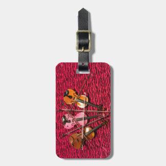Regalos de la foto del violín etiquetas para maletas