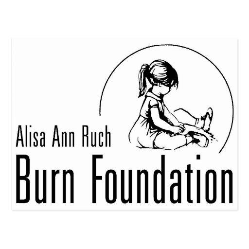 Regalos de la fundación de la quemadura de Alisa Tarjetas Postales