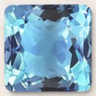 Regalos de la gema del Aquamarine de la aguamarina Posavasos