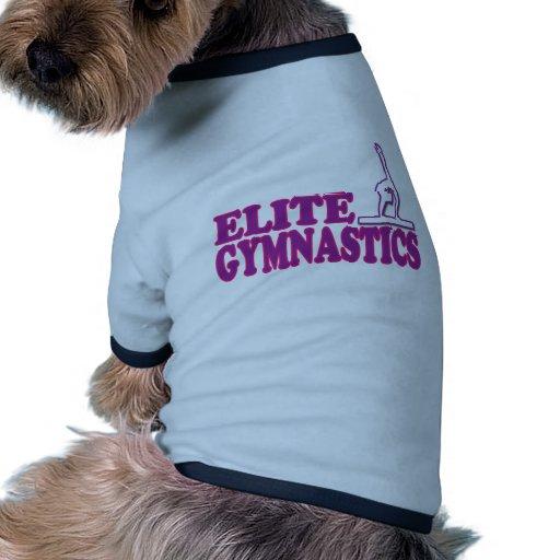 Regalos de la gimnasia de la élite para los gimnas camiseta con mangas para perro