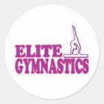 Regalos de la gimnasia de la élite para los etiqueta redonda