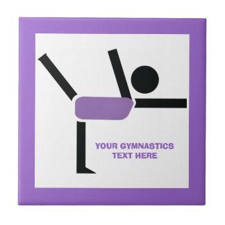 Regalos de la gimnasia, personalizado del ejecutan azulejo cuadrado pequeño