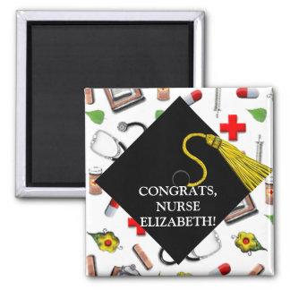 regalos de la graduación de la escuela de enfermer imán para frigorífico