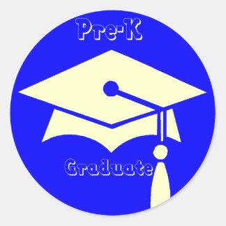 Regalos de la graduación de Pre-K Pegatina Redonda