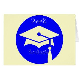 Regalos de la graduación de Pre-K Felicitación