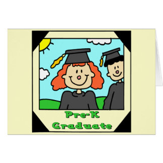 Regalos de la graduación de Pre-K Tarjeta