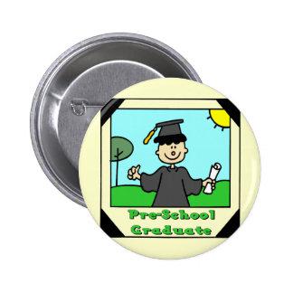 Regalos de la graduación del preescolar pin redondo 5 cm