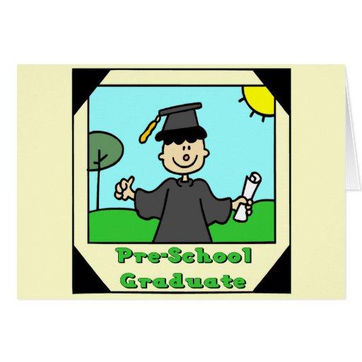 Regalos de la graduación del preescolar tarjeta de felicitación