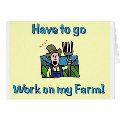 Regalos de la granja felicitacion