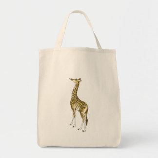 Regalos de la jirafa bolsa lienzo