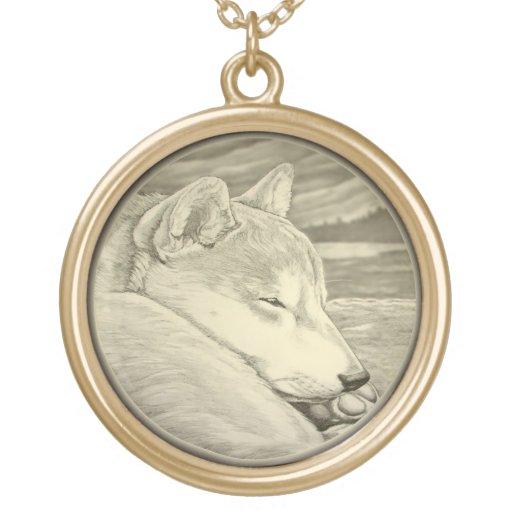 Regalos de la joyería del arte del perro de Shib