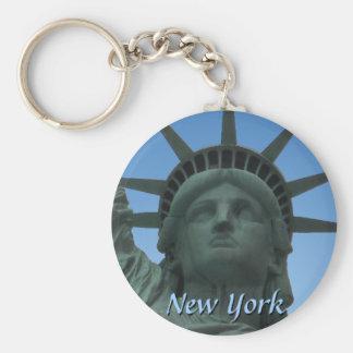 Regalos de la libertad del recuerdo de Nueva York Llavero Redondo Tipo Chapa