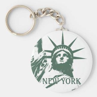 Regalos de la libertad del recuerdo de Nueva York Llavero Redondo Tipo Pin