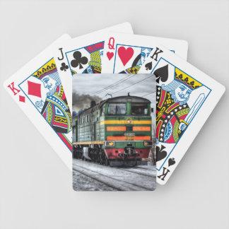 Regalos de la locomotora diesel para los amantes d baraja cartas de poker