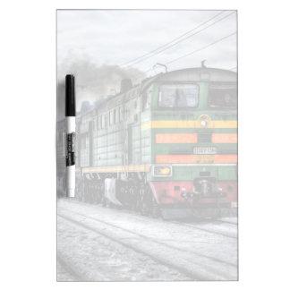 Regalos de la locomotora diesel para los amantes pizarras blancas de calidad