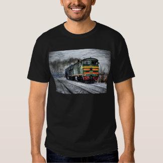 Regalos de la locomotora diesel para los amantes poleras
